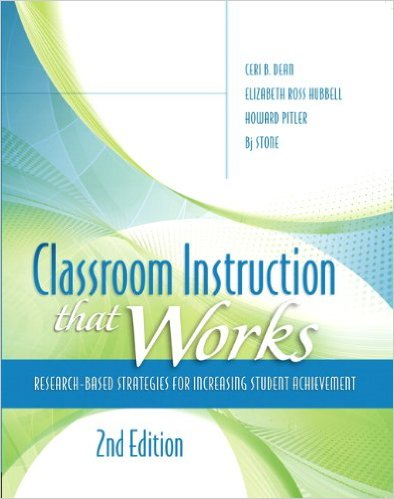 An image of the book Classroom Instruction That Works by Robert Marzano/ Ceri Dean